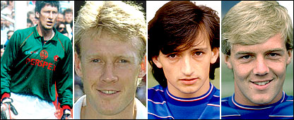 (l-r) Terry Gennoe, Simon Barker, Pat Nevin and Kerry Dixon