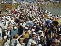 Crowds in Bangladesh