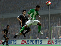 Advert for EA Sports in Fifa Soccer