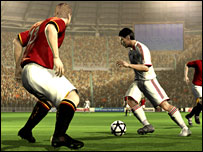 screenshot of EA's Fifa Soccer game