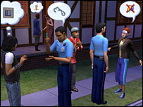 Sims screen shot
