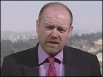 BBC Director General Mark Thompson in Ramallah