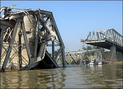 The Sarafiya Bridge over the Tigris River in Baghdad