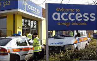 The ingredients were stored at this self-storage site in west London