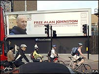Poster campaign for the release of BBC correspondent Alan Johnston