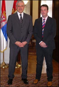 Boris Tadic with Nick Hawton 