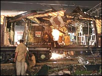 Mumbai bomb damage