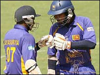 Sanath Jayasuriya and Kumar Sangakkara