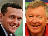 Watford manager Adrian Boothroyd (left) and Man Utd counterpart Sir Alex Ferguson
