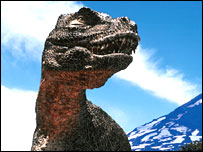 Tyrannosaurus - picture from BBC's Walking with Dinosaurs