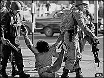 Represión policial.