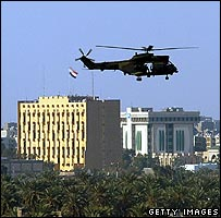 Helicopter over the Green Zone