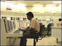 Control room at the Tarapur Nuclear Complex in India