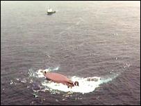 The scene where the Bourbon Dolphin capsized