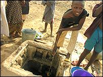 Rabiu Usman at the well