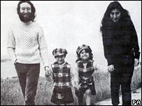 John Lennon, Julian Lennon, Kyoko Cox and Yoko Ono