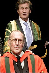 Melvyn Bragg (top) and Harold Pinter