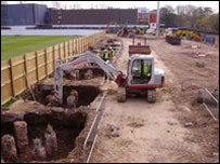 Some work has already started at the site (Pic: Glamorgan Cricket Archives)
