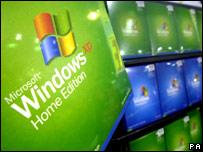 Sistema Windows XP en un almacén