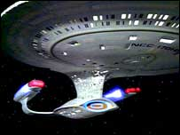 The USS Enterprise D - copyright Startrek.com