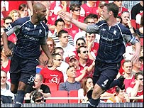 Nicolas Anelka and Kevin Nolan