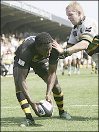 Wasps winger Paul Sackey