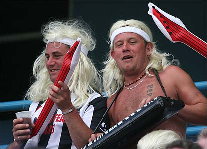 Mike Tingey sent this photo of England fans enjoying the party atmosphere in Barbados