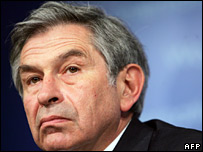 World Bank President Paul Wolfowitz at the press conference