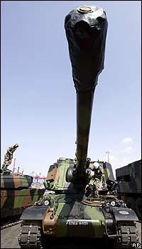 French gun deployed with the UN in Lebanon in 2006