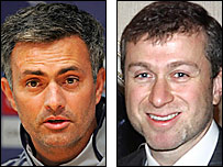 Chelsea manager Jose Mourinho (left) and owner Roman Abramovich