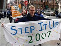 Global warming demonstration in New York