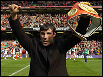 Joe Calzaghe at the Millennium Stadium