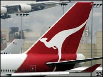 Qantas tailfin
