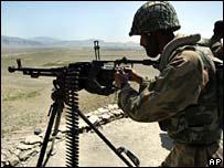Pakistan soldier near Wana, South Waziristan