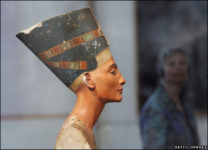Bust of Nefertiti at the Altes Museum in Berlin, Germany