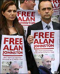 Journalists in Beirut rally for Alan Johnston