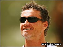 David Coulthard enjoys the Bahrain sunshine