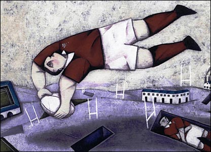All Welsh Rugby Players Go To Heaven, 2005, by Paine Proffitt