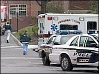 Servicios de emergencia en el lugar del tiroteo