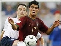 John Terry and Cristiano Ronaldo