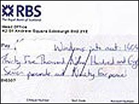 The cheque for �35,987.94