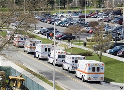 Emergency vehicles called to shooting at Virginia Tech