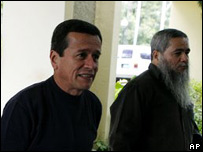 Pablo Beltrán y Francisco Galán, negociadores del ELN