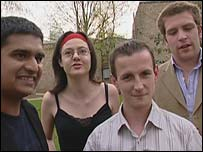 Left to right: Prakash Patel, Daisy Chrisodoulou, Harold Wyber and Rory Gill