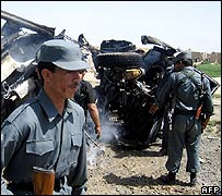 The aftermath of Friday's Kandahar attack