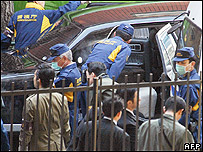 Aftermath of the assassination of a Sumiyoshi boss in Tokyo