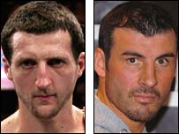 Carl Froch (left) and Joe Calzaghe