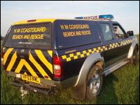 Coastguard search and rescue vehicle