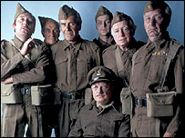 The cast of classic sitcom Dad's Army