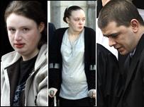Donna O'Neill, victim Tammy McGregor, and Lee Holt [Pictures: Newsline]